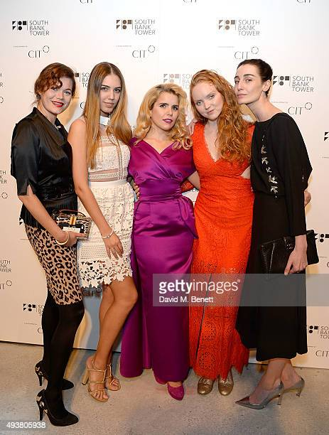 Jasmine Guinness Amber LeBon Paloma Faith Lily Cole and Erin O'Connor attend the opening of new landmark 41storey development South Bank Tower with...