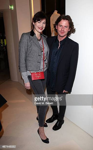 Jasmine Guinness and Christopher Kane attend the opening of Christopher Kane's London Flagship store on March 24, 2015 in London, England.