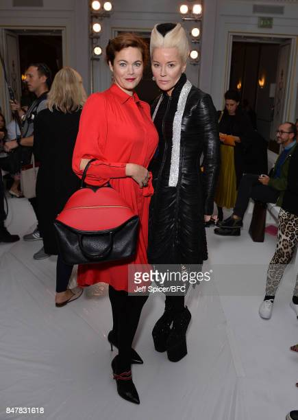 Jasmine Guinness and Daphne Guinness attend the Jasper Conran show during London Fashion Week September 2017 on September 16 2017 in London England