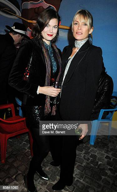 Jasmine Guinness and Deborah Leng attend the launch party of Maia Norman's fashion brand 'Mother Of Pearl' at the Double Club on November 26 2008 in...
