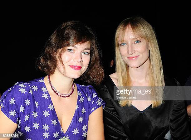 Jasmine Guinness and Jade Parfitt attend the Ashley Isham fashion show at The Linbury Theatre on September 16 2008 in London England