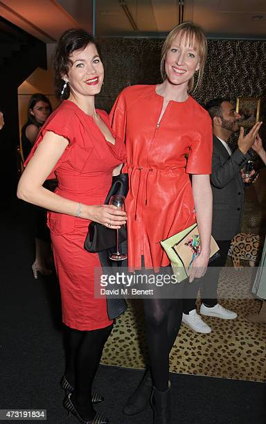 Jasmine Guinness and Jade Parfitt attend The NET SET powered by NETAPORTERCOM launch party on May 13 2015 in London England