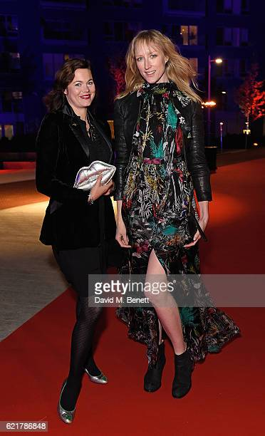 Jasmine Guinness and Jade Parfitt attend the opening of London City Island the capital's new cultural neighbourhood on November 8 2016 in London...