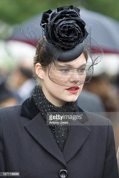 Jasmine Guinness Attends The Funeral Of Fashion Stylist Isabella Blow Held At Gloucester Cathedral