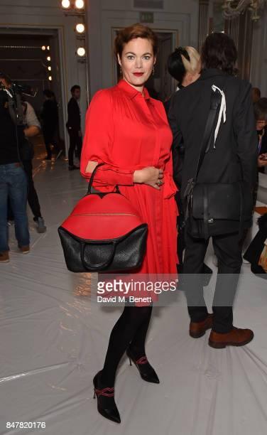 Jasmine Guinness attends the Jasper Conran SS18 catwalk show during London Fashion Week September 2017 on September 16 2017 in London United Kingdom