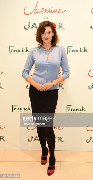 Jasmine Guinness attends the launch of the Jasmine Guinness for Jaeger collection at Fenwick Of Bond Street on September 9 2015 in London England