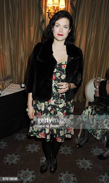 Jasmine Guinness attends the Nancy Mitford 'Wigs on the Green' reissue party held by Catherine Ostler and the Dowager Duchess of Devonshire, in...