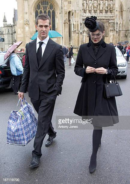 Jasmine Guinness Rupert Everett Attend The Funeral Of Fashion Stylist Isabella Blow Held At Gloucester Cathedral