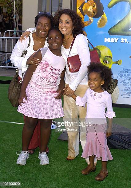 Jasmine Guy and family during Shrek 2 Los Angeles Premiere at Mann Village Theatre in Westwood California United States