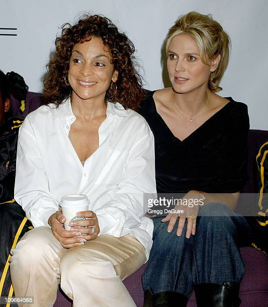 Jasmine Guy and Heidi Klum during Heidi Klum Attends the Grove Auditions for the Top Hats on Behalf of Charity A Place Called Home at Debbie Reynolds...