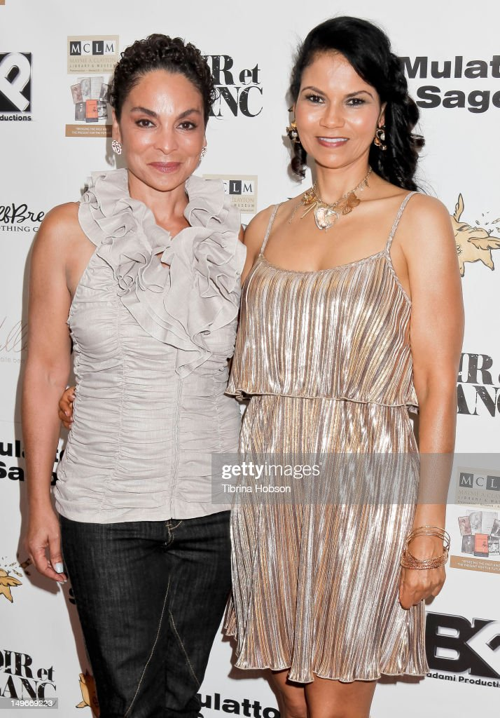 Jasmine Guy and Juliette Fairley attend the screening of the short film 'Mulatto Saga' on August 1, 2012 in Culver City, California.