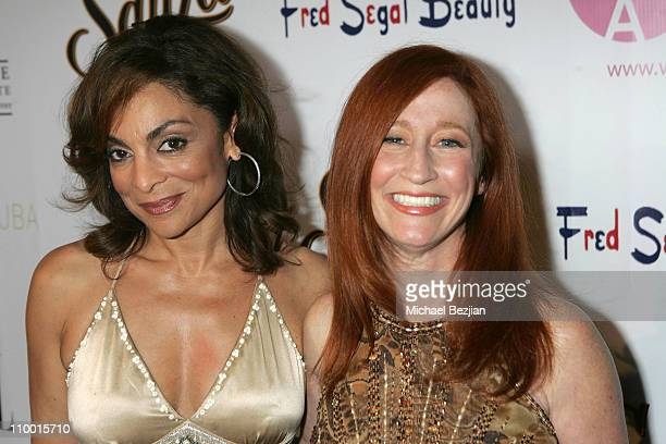 Jasmine Guy and Vicki Lewis during 2007 What a Pair Benefiting the John Wayne Cancer Institute Arrivals and Backstage at The Orpheum Theater in Los...