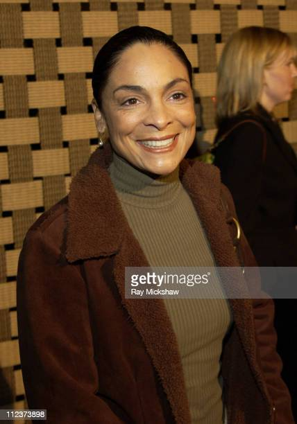 Jasmine Guy during Hotel Rwanda Los Angeles Premiere Red Carpet at Academy Theater in Los Angeles California United States