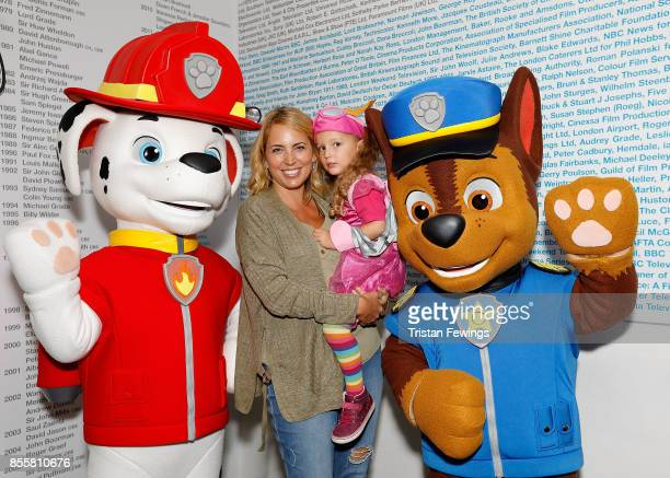 Jasmine Harman and daughter Joy attend a BAFTA screening of PAW Patrol Mission PAW Quest for the Crown before the episode premieres on Nick Jr on...