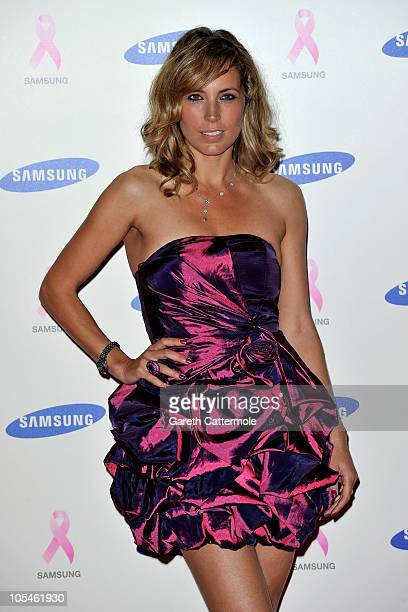 Jasmine Harman arrives at the Samsung Pink Ribbon Celebration at The Royal Exchange on October 14 2010 in London England
