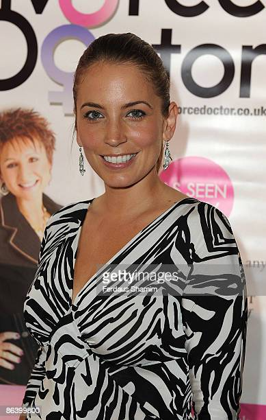 Jasmine Harman attends Francine Kaye's book launch party at Zilli Fish on May 5 2009 in London England