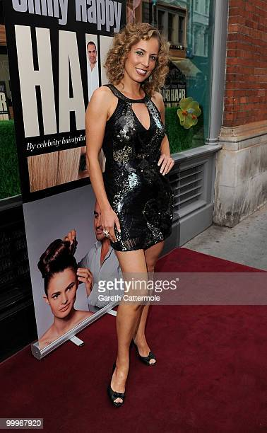 Jasmine Harman attends the book launch for Andrew Barton's 'Shiny Happy Hair' on May 18 2010 in London England