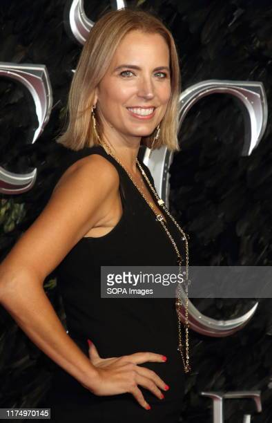 Jasmine Harman attends the Maleficent Mistress of Evil European Film Premiere at the Odeon IMAX Waterloo in London