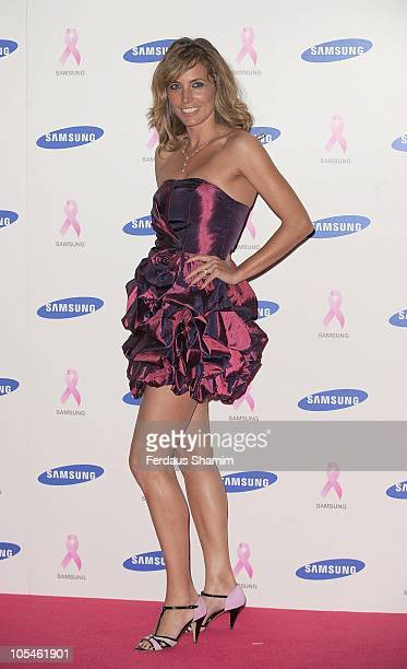 Jasmine Harman attends The Samsung Pink Ribbon Celebration which raises funds and awareness of breast cancer at The Royal Exchange on October 14 2010...