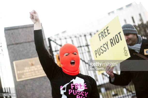 Jasmine Heiss attends the Solidarity Vigil For Pussy Riot Performance Anniversary at on February 20 2013 in Washington DC