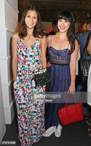 Jasmine Hemsley and Melissa Hemsley attend the Tiffany Co immersive exhibition 'Fifth 57th' at The Old Selfridges Hotel on July 1 2015 in London...