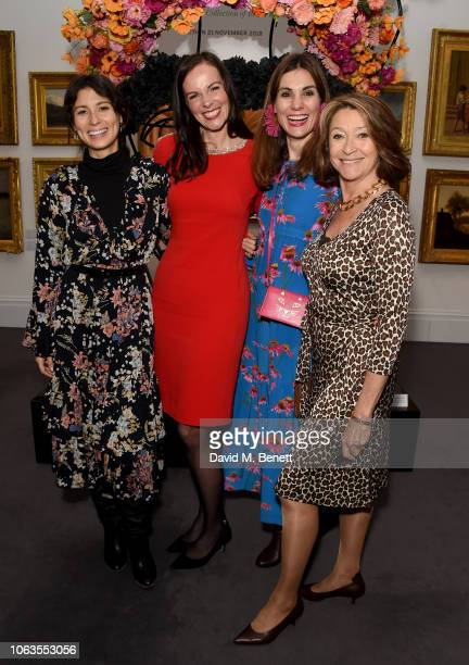 Jasmine Hemsley Brita Fernandez Schmidt and Maria Kastani attend the #SheInspiresMe Auction In Support Of Women For Women International at Sotheby's...