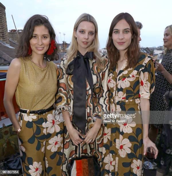 Jasmine Hemsley Greta Bellamacina and Alexa Chung attend the launch of the Orla Kiely retrospective that celebrates her remarkable 20year career at...