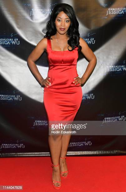 Jasmine Hester attends the Chronicles of Jessica Wu Season 2 premiere at SAGAFTRA Foundation Screening Room on April 20 2019 in Los Angeles California