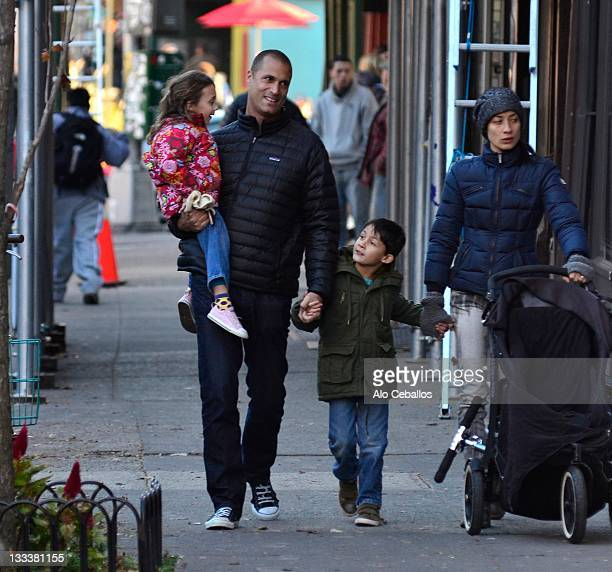 Jasmine Ines Barker Nigel Barker Jack Barker and Christen Chin Barker are seen in the west village on November 18 2011 in New York City