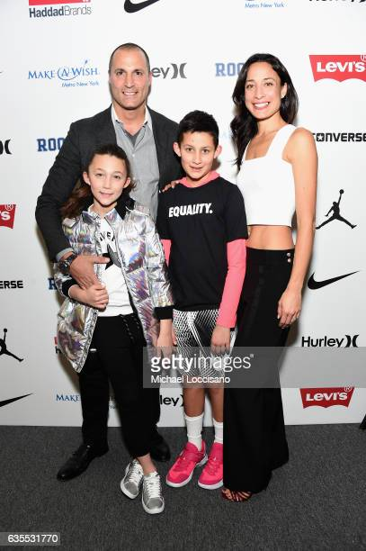 Jasmine Ines Barker Nigel Barker Jack Barker and Cristen Barker pose backstage at the Rookie USA fashion show during New York Fashion Week The Shows...
