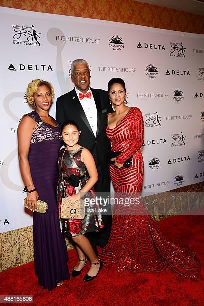 Jasmine Julietta Julius and Dorys Erving attend The Julius Erving Black Tie Ball Event at The Rittenhouse Hotel on September 13 2015 in Philadelphia...