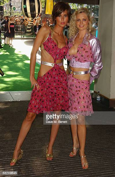 Jasmine Lennard and Anouska De Georgiou arrive at the UK Premiere of Charlie And The Chocolate Factory at the Odeon Leicester Square on July 17 2005...