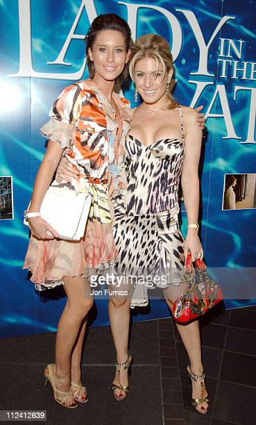 Jasmine Lennard and Hofit Golan during 'Lady in the Water' London Film Premiere Inside at Vue West End in London Great Britain