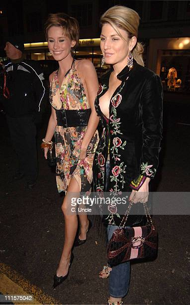 Jasmine Lennard and Hofit Golan during The London's Pink Party at The Collection 264 Brompton Road in London Great Britain
