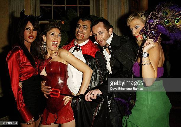 Jasmine Lennard Hofit Golan Guest Scott Henshall and Actress and former Miss Great Britain Liz Fuller arrive at the First Annual Bloodlust Ball...