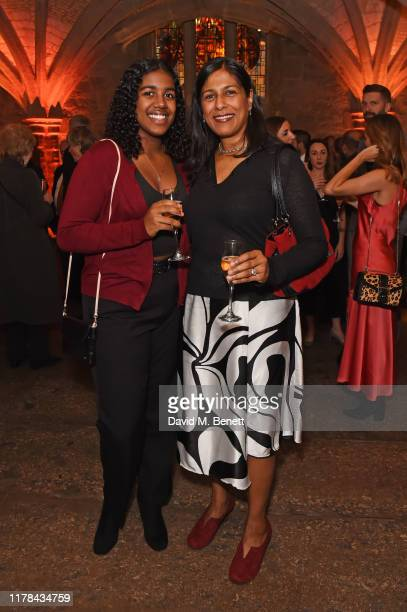 Jasmine Lester and Lolita Chakrabarti attend the UK Theatre Awards 2019 at The Guildhall on October 27 2019 in London England