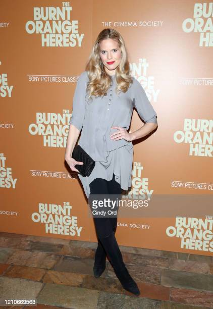 """Jasmine Lobe attends Sony Pictures Classics and The Cinema Society Special Screening of """"The Burnt Orange Heresy"""" at The Roxy Cinema on March 05,..."""