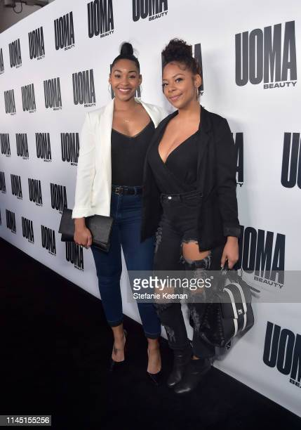 Jasmine Luv and Yanira Pache attends UOMA Beauty Launch Event at NeueHouse Hollywood on April 25 2019 in Los Angeles California