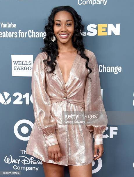 Jasmine Luv arrives at the GLSEN Respect Awards at the Beverly Wilshire Four Seasons Hotel on October 19 2018 in Beverly Hills California