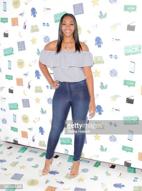 Jasmine Luv attends ATT Hello Lab's 'STARTER PACK' LOG ON The Internet Experience PopUp on October 12 2018 in Los Angeles California