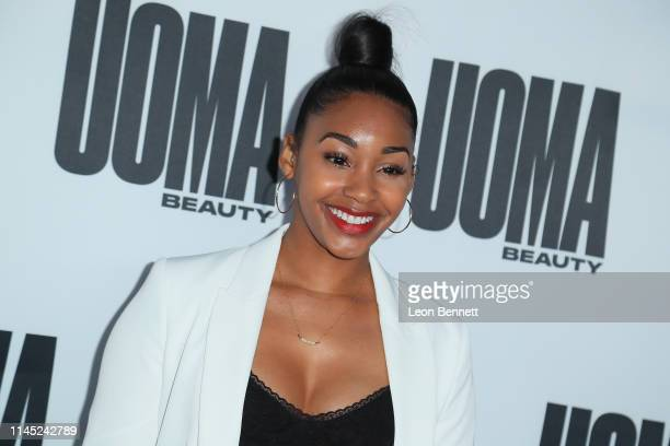 Jasmine Luv attends House Of Uoma Presents The Launch Of Uoma Beauty The World's First Afropolitan Makeup Brand at NeueHouse Hollywood on April 25...