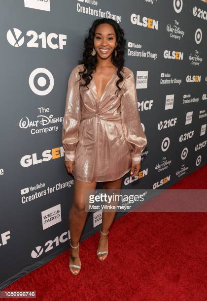 Jasmine Luv attends the GLSEN Respect Awards at the Beverly Wilshire Four Seasons Hotel on October 19 2018 in Beverly Hills California