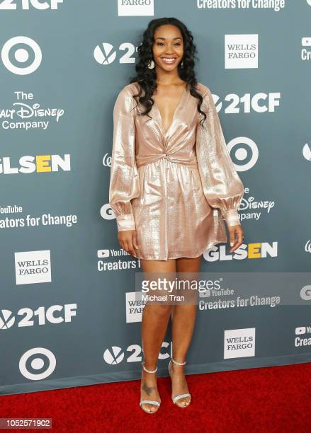 Jasmine Luv attends the GLSEN Respect Awards held at the Beverly Wilshire Four Seasons Hotel on October 19 2018 in Beverly Hills California