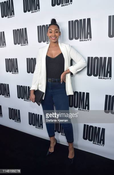 Jasmine Luv attends UOMA Beauty Launch Event at NeueHouse Hollywood on April 25 2019 in Los Angeles California