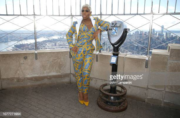 Jasmine Masters from the cast of RuPaul's Drag Race All Stars visits the Empire State Building Hosts Cast Of RuPaul's Drag Race All Stars at The...