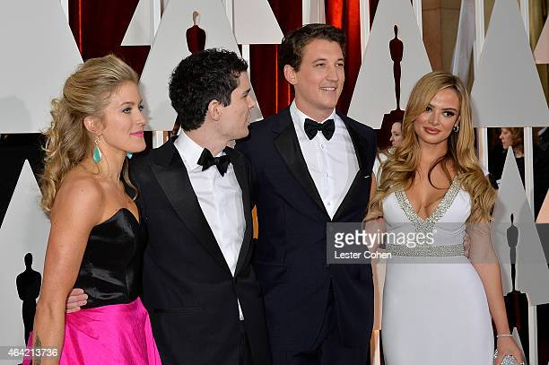Jasmine McGlade Chazelle screenwriter Damien Chazelle actor Miles Teller and Keleigh Sperry attend the 87th Annual Academy Awards at Hollywood...