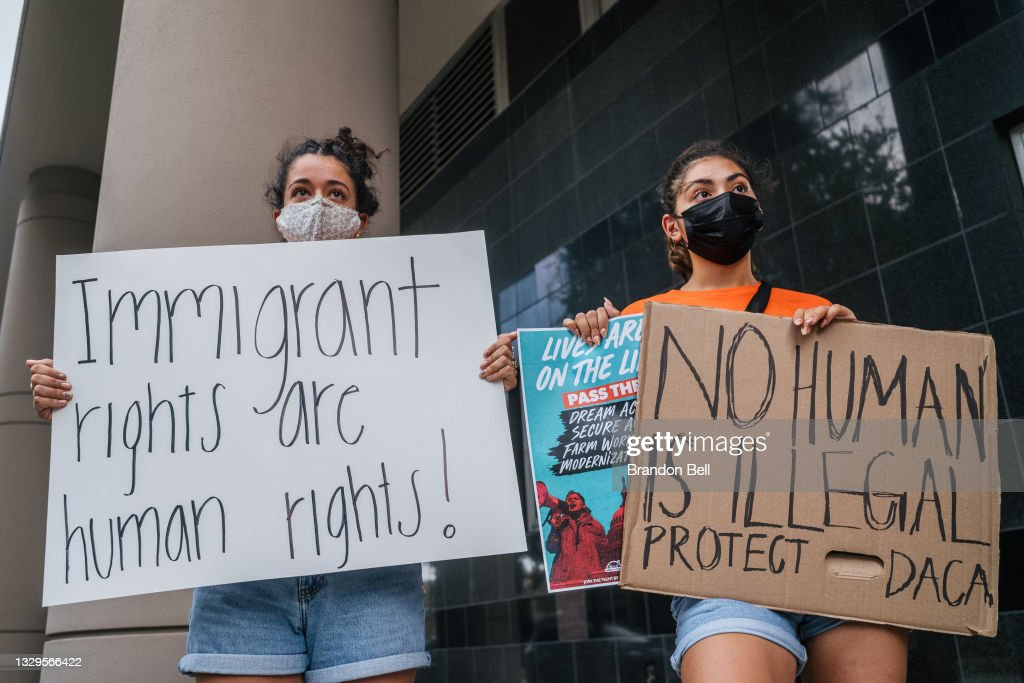 Rally Held At U.S. District Court In Support Of DACA Applicants : News Photo