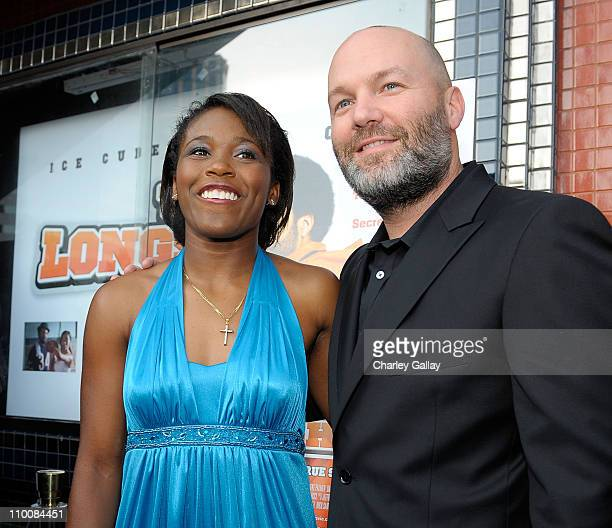 Jasmine Plummer and director Fred Durst attend the world premiere of the Weinstein Company's 'The Longshots' at the Majestic Crest Theatre on August...