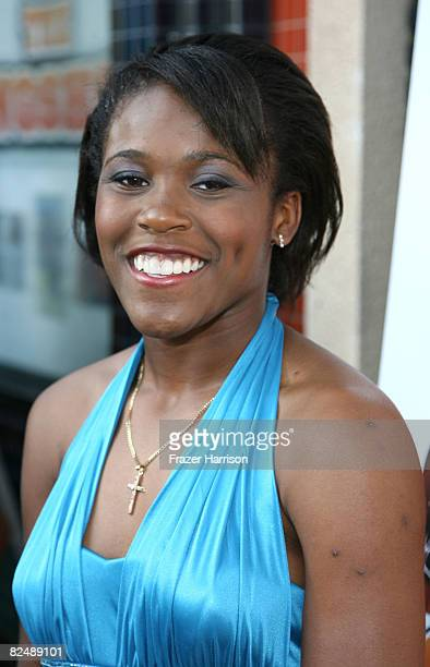 Jasmine Plummer arrives at the premiere of the Weinstein Company's ''The Longshots'' at the Majestic Crest Theatre on August 20 2008 in Westwood...