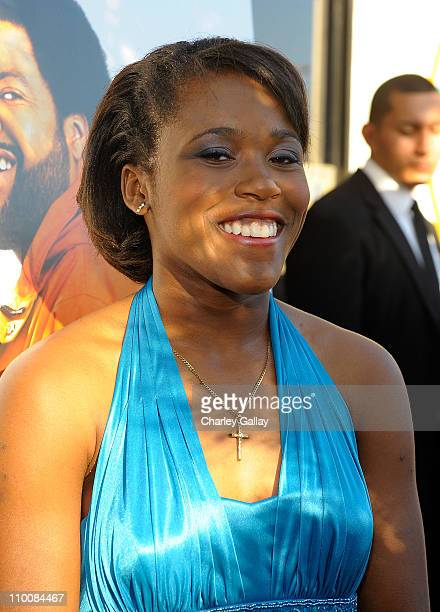 Jasmine Plummer attends the world premiere of the Weinstein Company's 'The Longshots' at the Majestic Crest Theatre on August 20 2008 in Westwood...